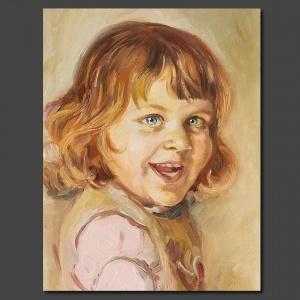 Portrait en peinture à l'huile sur toile