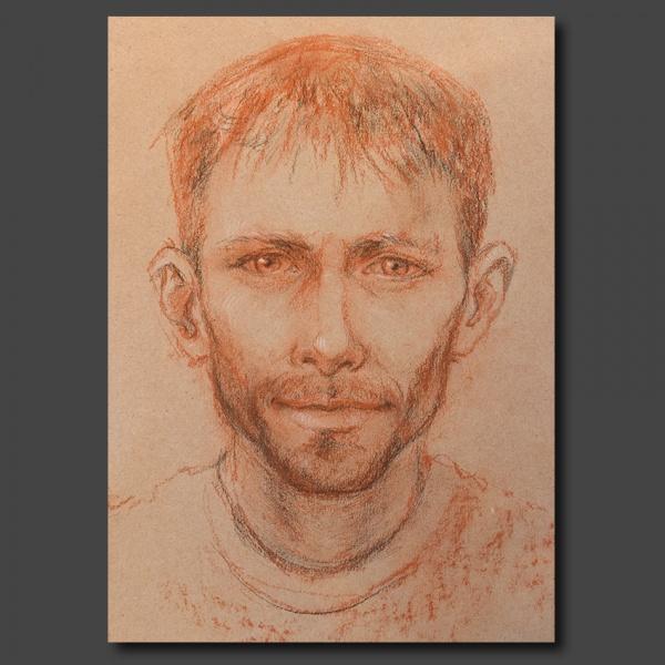 Portrait à la sanguine (4 crayons)